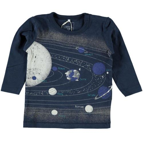 babykleding jongens shirt lange mouwen Name It Blauw 108776